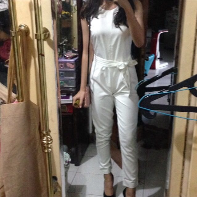 Tied Up Belted Jumpsuit