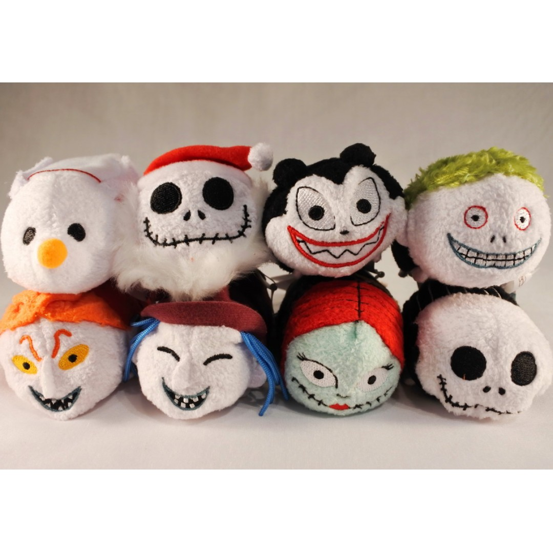 Tsum Tsum Nightmare Before Xmas Full Set of 8 Mini Plush Japan ...