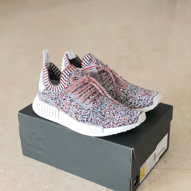 online store 78016 b2c76 UK7.5 Adidas NMD R1 Colour Static Rainbow, Mens Fashion, Foo