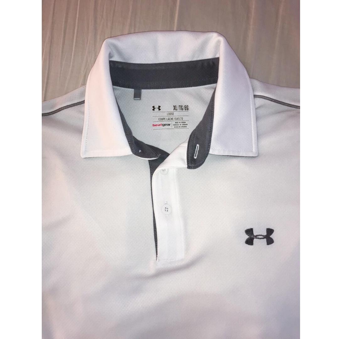 Underarmour white golf shirt
