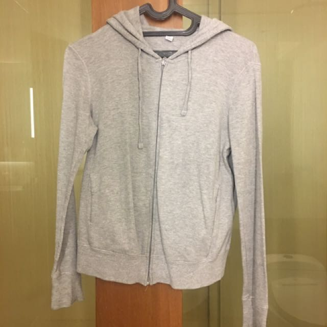 Uniqlo Basic Grey Hoodie