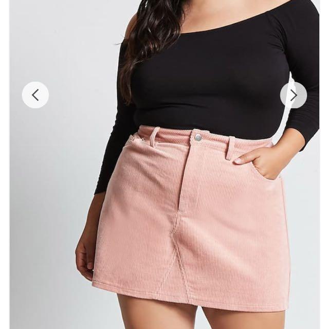 a02515d82f US20 Forever 21 + Plus Size Corduroy Mini Skirt