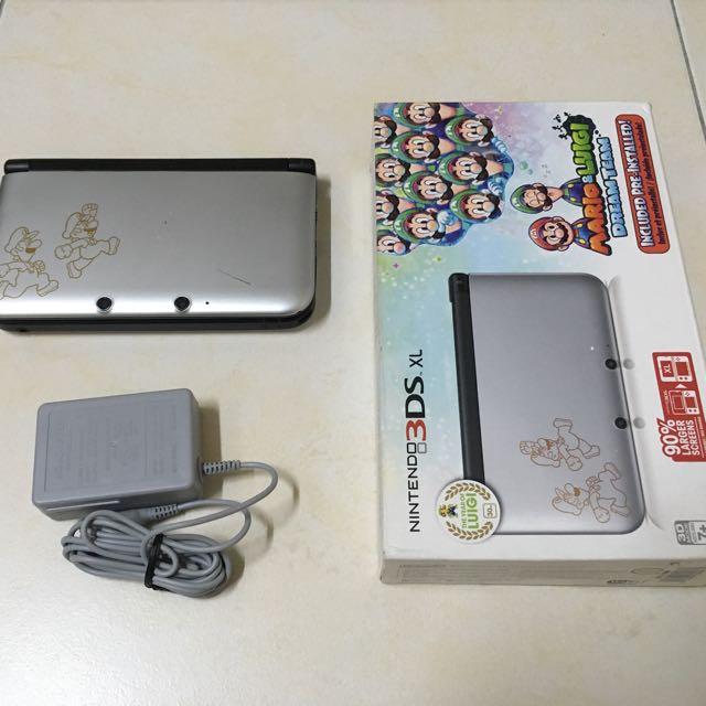 Used 3DSXL Mario and Luigi Dream Team Limited Edition (free modding)