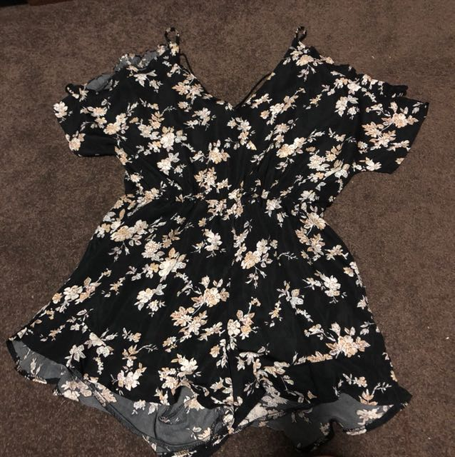 Valley Girl Floral Playsuit