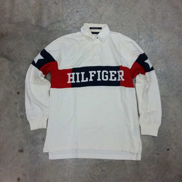 a8e1b535865 VINTAGE TOMMY HILFIGER POLO RUGBY SHIRT, Men's Fashion, Clothes on Carousell