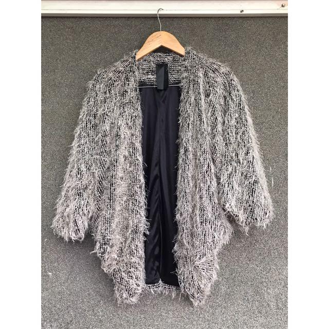 Wam 購入 米灰色落肩罩衫外套
