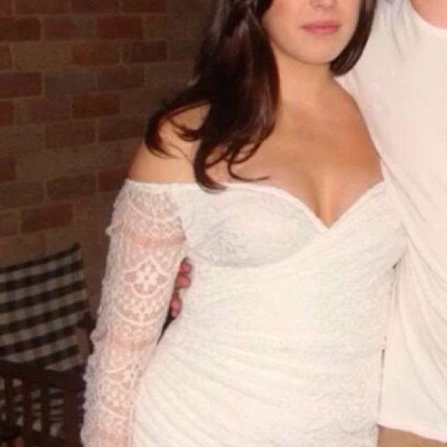 White lace dress *price dropped*