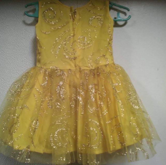 YELLOW GOLD GOWN FOR 2-3 year old GIRL