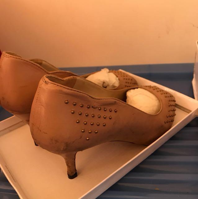 Zara Nude heels size 41 rrp129.95