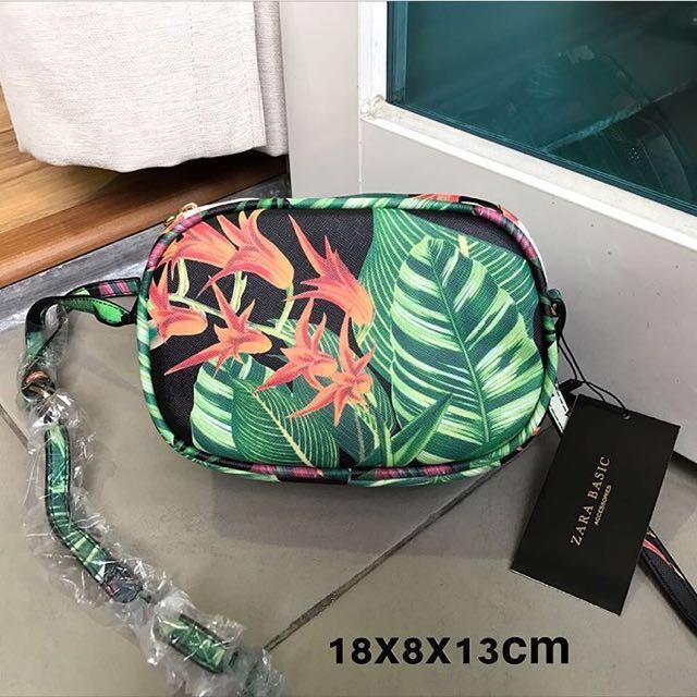 Zara tropical sling bag