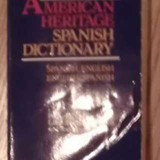 The American Heritage Spanish English Dictionary Book