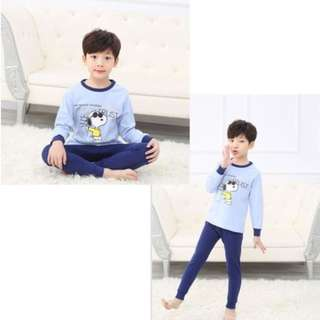[Ready Stock] Kids Sleepwear for 2 - 12 yrs old -  Light Blue Snoopy