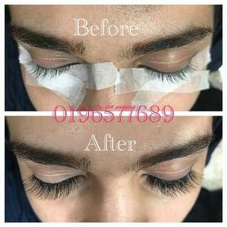 Eyelash Extensions natural soft with eye mask