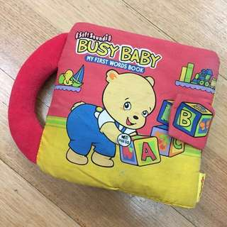 Baby Soft Cloth Book (with Sound)