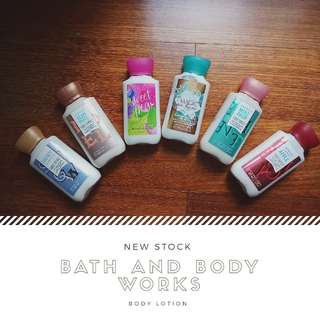 BATH AND BODY WORKS TRAVEL SIZE BODY LOTION