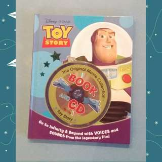 Hardcover Toys Story Book with CD - New