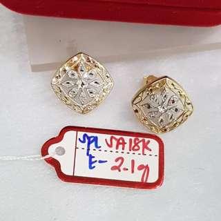 Earrings- Genuine 18K Gold