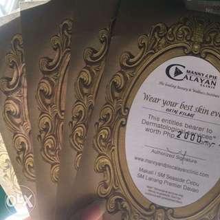 10,000 Calayan Gift Certificate worth