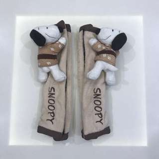 Snoopy cover for car seat belt