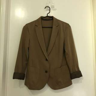 UNIQLO Brown Blazer