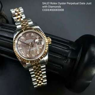 ROLEX Oyster Perpetual Date Just  with Diamonds