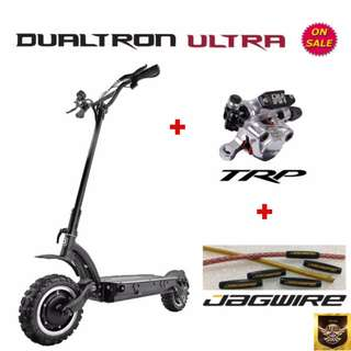 Dualtron Ultra v2 + TRP HY-RD Hydraulic Brakes + Jagwire Cable & Housing (on Sale for serious buyers only)