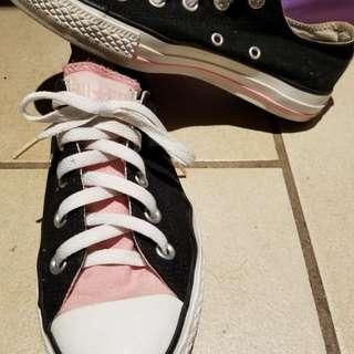 Converse Chuck Taylors Black and Pink