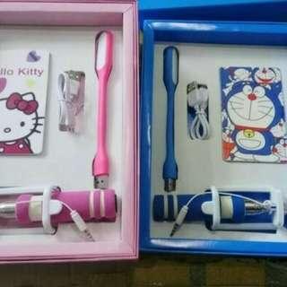 Paket Hemat Power Bank set karakter Doraemon