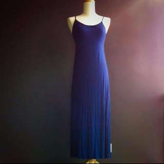 Island Shop Navy Blue Long Dress