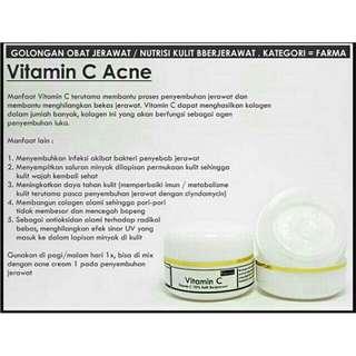 Vitamin C acne