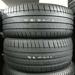 2254517 MICHELIN 米芝蓮 PS3 二手車呔 一對 14年 90%NEW