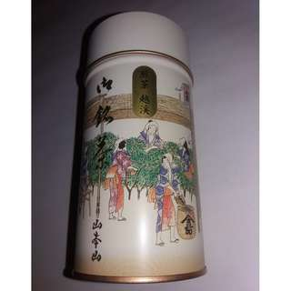 Metal Container with Chinese Painting