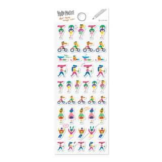 Last 1 Instock! Mix & Match)*Q-Lia Japan - Yuru Maste Human theme Stickers