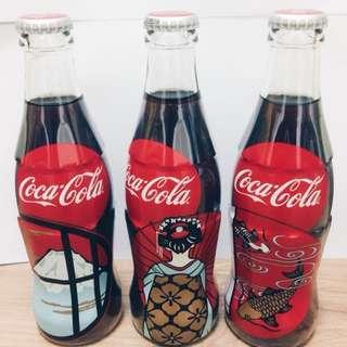 COCA COLA Coke Glass Bottle JAPAN 100 Years