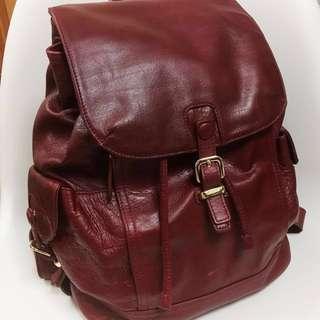 Hiroshima leather backpack背囊