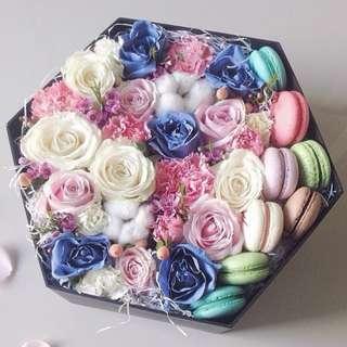 Valentine's Day HEXAGON Flower Box