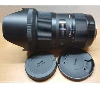 Lens: Sigma 18-35mm f1.8 Art (Canon mount)