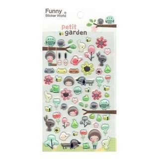 50% OFF! (Mix & Match)*Funny Korea - Petite Garden Stickers