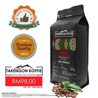 Coffee Bean - Arabica Wine (Specialty Coffee Bean) 250gram