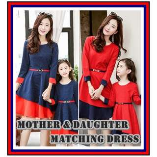 Mother and Daughter Dress Set / Family Wear Matching Clothes / CNY Outfits