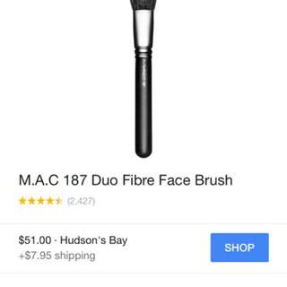 Mac #187 Stippling Brush