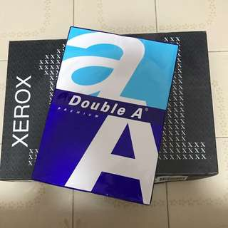Double A and Xerox A4 paper
