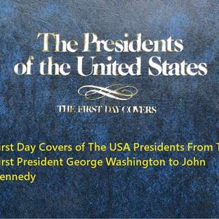 FDC Of USA Presidents From 1st President to John Kennedy
