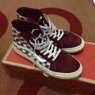 Vans checkerboard maroon