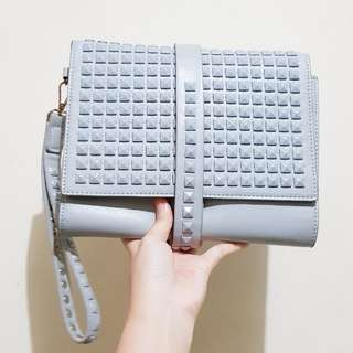 Clutch Pesta Warna Abu-abu / Grey