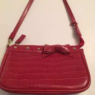 Louis Vuitton red pochette handbag