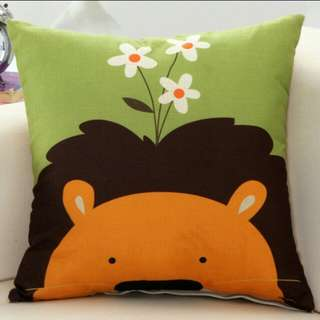 Cute animals polyester cushion cover pillow case