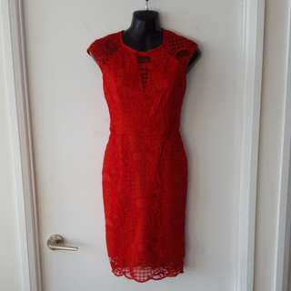 Guess Red Lace Dress