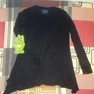 Kaos tangan panjang hitam