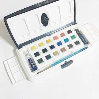 daler rowney aquafine watercolors 20pc half pan set